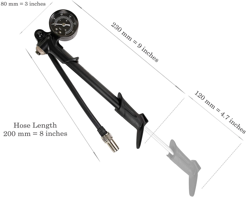 Details about  /High Pressure 160psi MTB Bike Compact Suspension Fork /& Rear Shock Pump