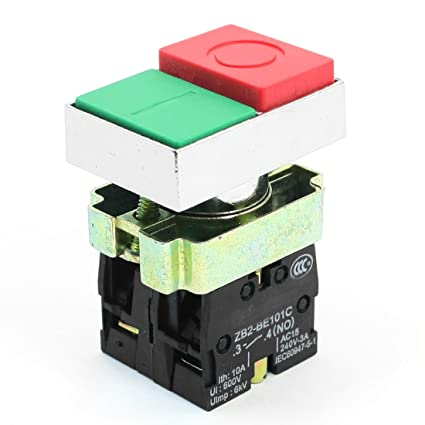 Amazon.com: 4-Terminals O/I Two Buttons DPST Momentary Button Switch ...