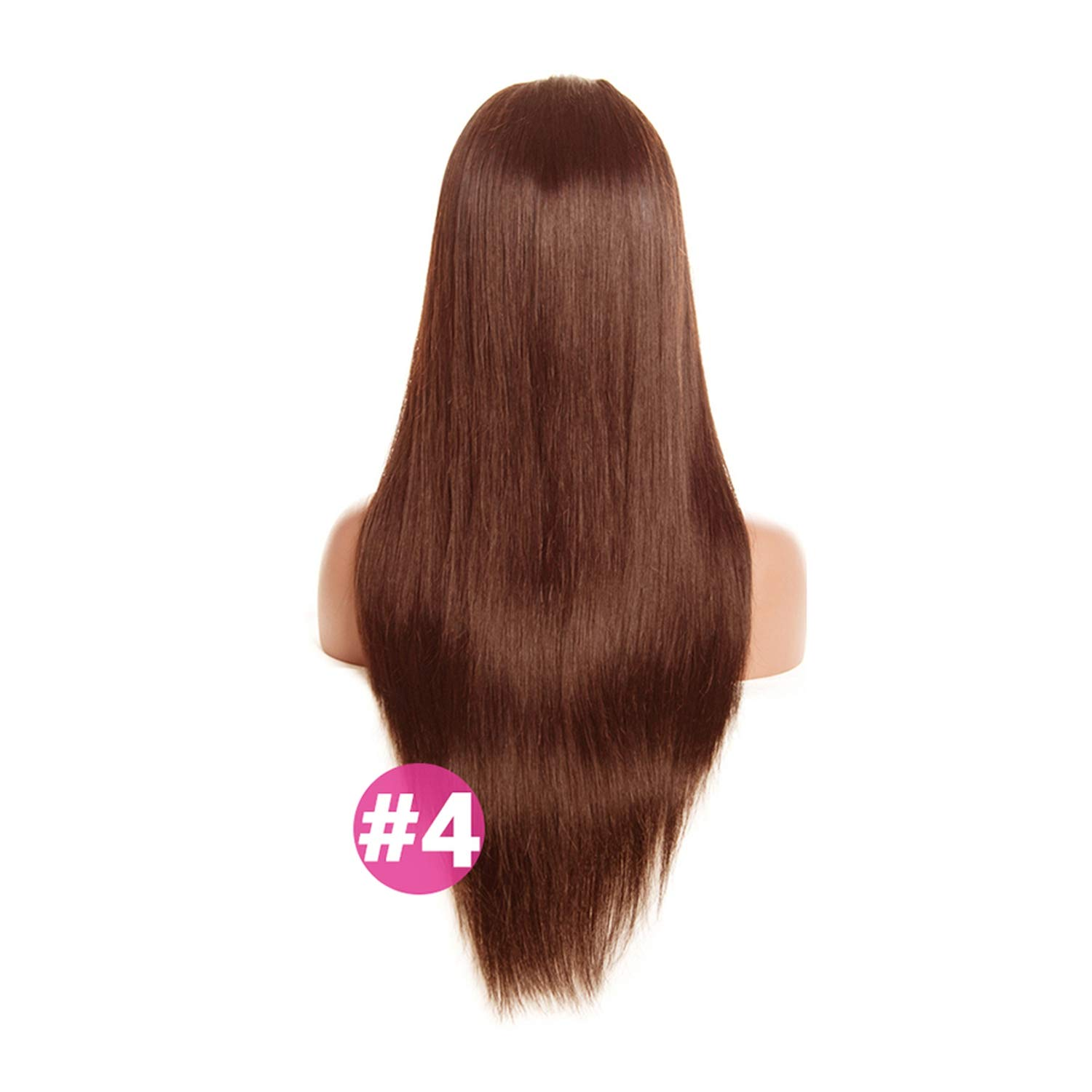Light Brown Malaysian Straight Wig Lace Front Human Hair Wigs With Baby Hair Lace Front Wig Remy Hair #4 Pre Plucked Hairline,#4,26inches,130%