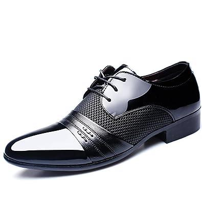sale retailer 863fd 0551c Herrenschuhe Herren Schnürhalbschuhe Elegant Businessschuhe Lederschuhe  Hochzeit Schuhe
