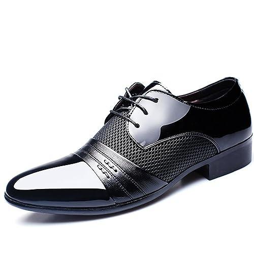 ed3ae6b6dd5e60 BAINASIQI Herrenschuhe Herren Schnürhalbschuhe Elegant Businessschuhe  Lederschuhe Hochzeit Schuhe