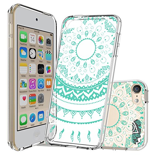 Price comparison product image Ipod 5 Cases ,  Ipod 6 cases ,  Ipod Touch 5 cases ,  Ipod Touch 6 cases with Screen Protector ,  AnoKe Mandala TPU Ultra Thin Slim Fit Women Girl Protective Phone Cover Case For Ipod Touch 5 6 Clear