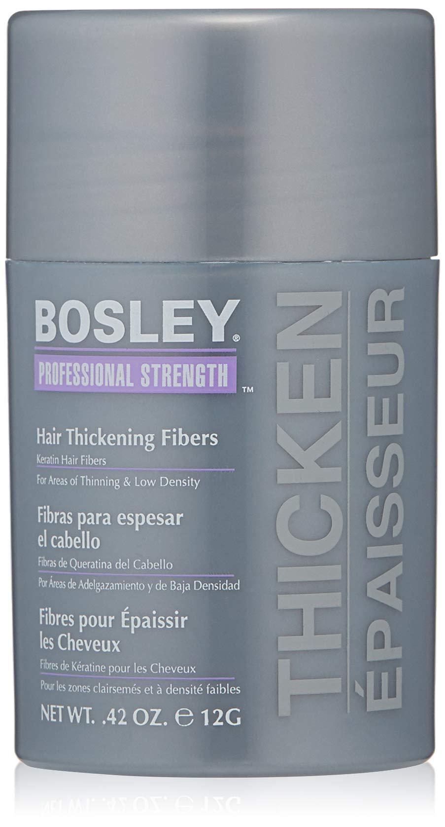 Bosley Professional Strength Hair Thickening Fibers, Dark Brown, 0.42 Ounce by Bosley Professional Strength