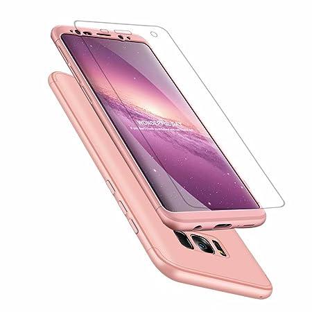 Laixin 3 in 1 Handyhülle für Samsung Galaxy S9 Hülle Ultra Dünn PC Plastik Anti-Kratzen Schutzhülle Schutz Case Cover mit Dis