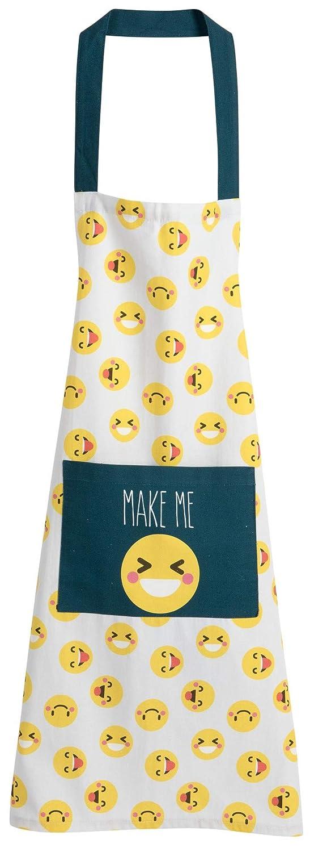 Smile Emoji 100/% Cotone KASA Grembiule da Cucina