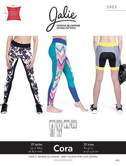 Amazon.com: Jalie Cora Running Tights or Shorts Leggings Sewing ...