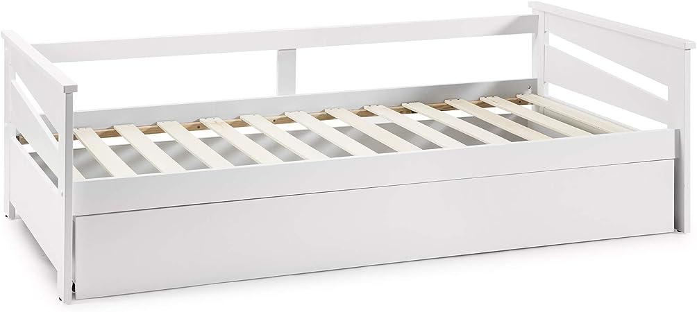 VS Venta-stock Cama Nido Juvenil Emma 90X190, Color Blanco, Dimensiones: 199cm (Largo), 105cm (Ancho) y 62cm (Alto): Amazon.es: Hogar