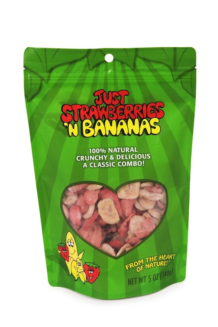 Karen's Naturals Just Tomatoes, Just Strawberries 'N Bananas 5-Ounce Large Pouch (Pack of 2) (Packaging May Vary)