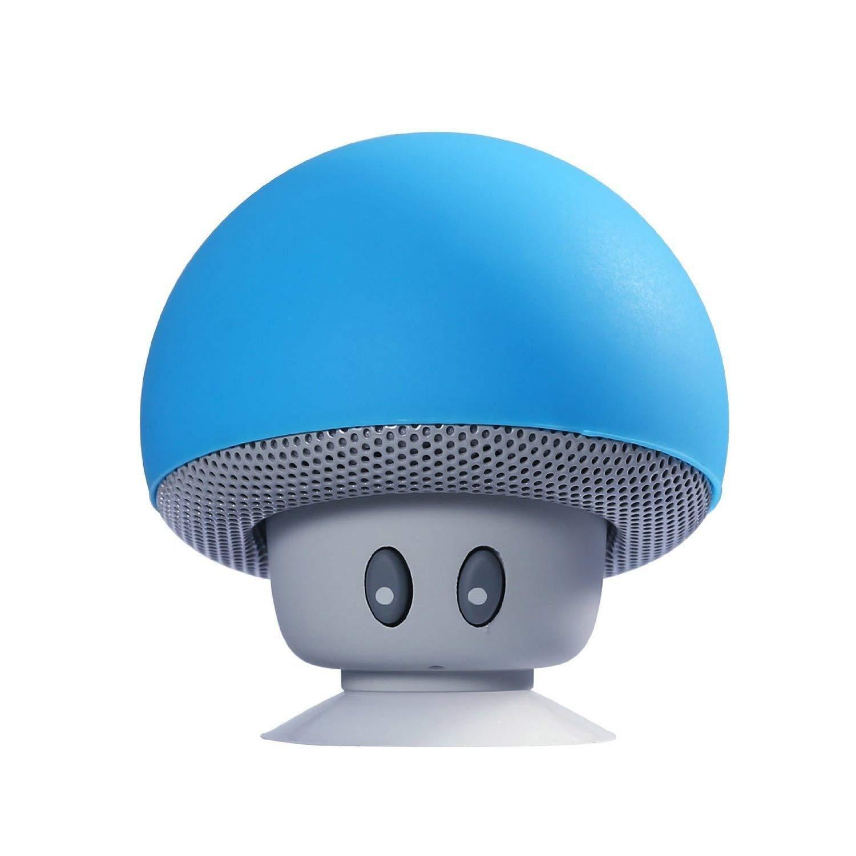 IGHER Cartoon Pilz Drahtloser Bluetooth Lautsprecher Wasserdichter Sauger Mini Bluetooth Lautsprecher Audio Outdoor Portable Pink