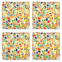 Liili Square Coasters Colorful pebble stone on the wall 28704343