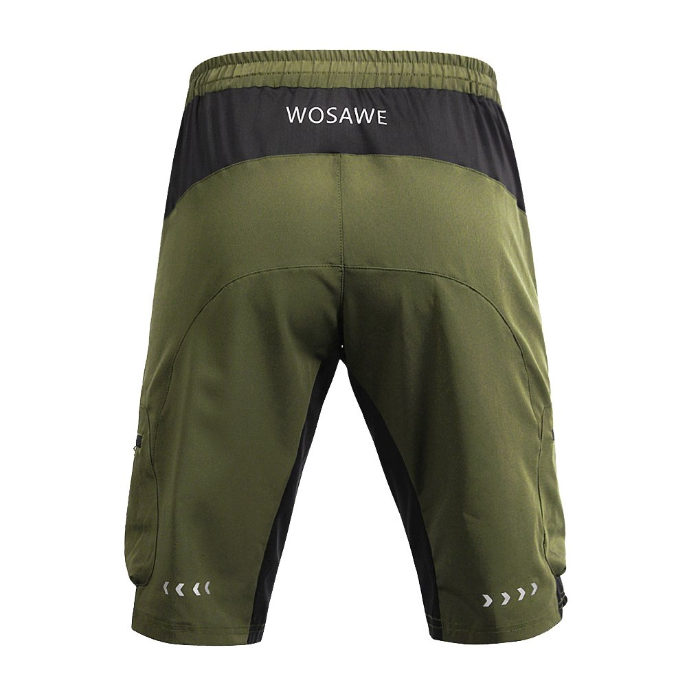 Amazon.com   Lixada WOSAWE Men s Water Repellent Baggy Cycling Shorts  Breathable Loose Fit Outdoor Sports MTB Bike Riding Running Shorts   Sports    Outdoors db73f049c