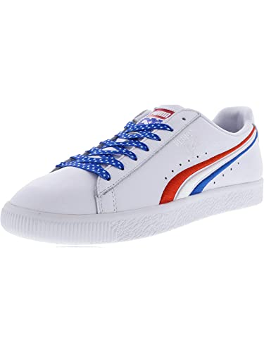 newest c21c6 8c6a3 Puma Men's Clyde 4Th of July Ankle-High Leather Fashion Sneaker