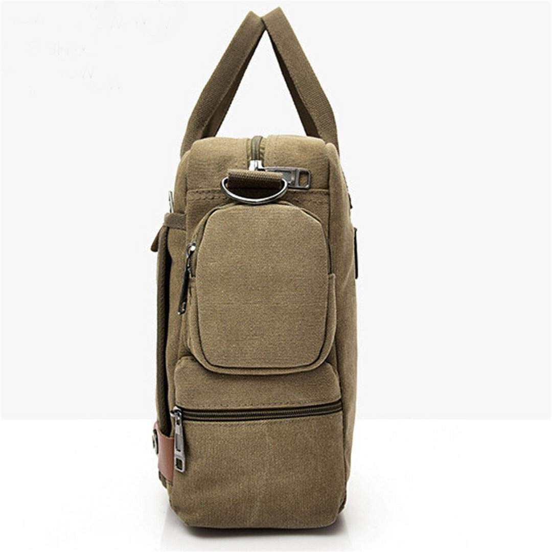 Canvas Mens Shoulder Bags Zipper Canvas Shoulder Bag Casual Messenger Bag Gray