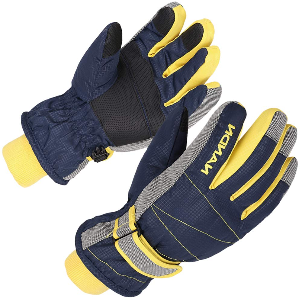 Fit 8-10 years XTACER Kids Ski Snow Gloves Snowboard Winter Warm Cold Weather Gloves for Boys Girls Children Purple, Medium
