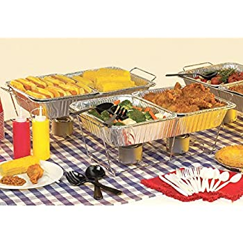 Amazon Com Party Pack 8 Piece Buffet Chafer Food Warmer