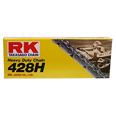 RK Racing Chain M428H-102 (428 Series) 102-Links Standard Non O-Ring Chain with Connecting Link: Automotive