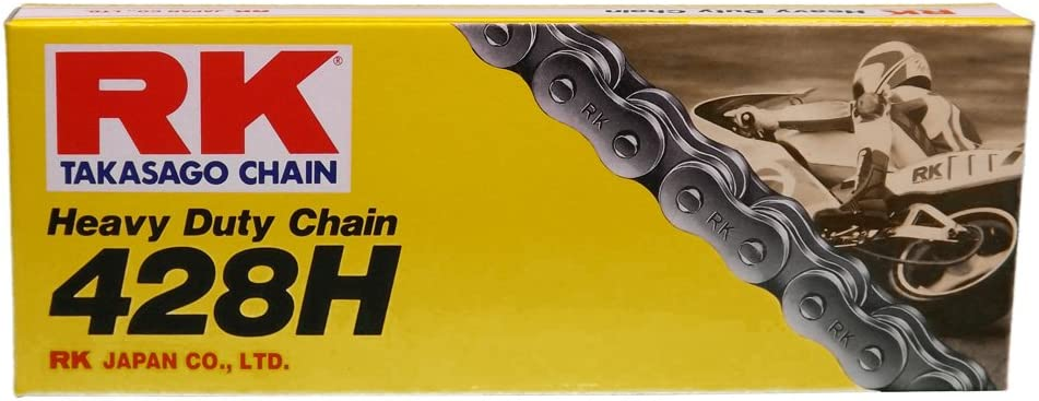 RK Racing Chain GB428MXZ-82 Gold 82-Links Heavy Duty Chain with Connecting Link