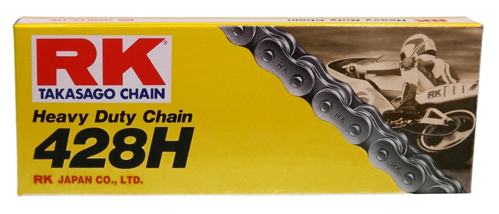RK Racing Chain M428H-88 88-Links Standard Non O-Ring Chain with Connecting Link 428 Series