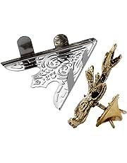Moligh doll 6 Pcs Shirt Collar Metal Clips--Silver & 2 Pcs Antique Bronze Alloy Shirt Collar Clips Tips Gift Reindeer Shape