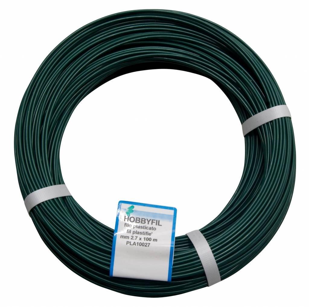 Fil de tension galvanisé plastifié - Longueur 100 m - Diamètre 2, 6 mm - Vert Générique N. 16 mm 2 7 mt 100