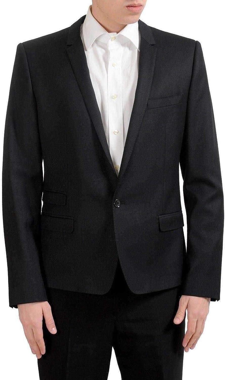 Dolce /& Gabbana Mens 100/% Wool One Button Black Blazer Sport Coat US 40 IT 50
