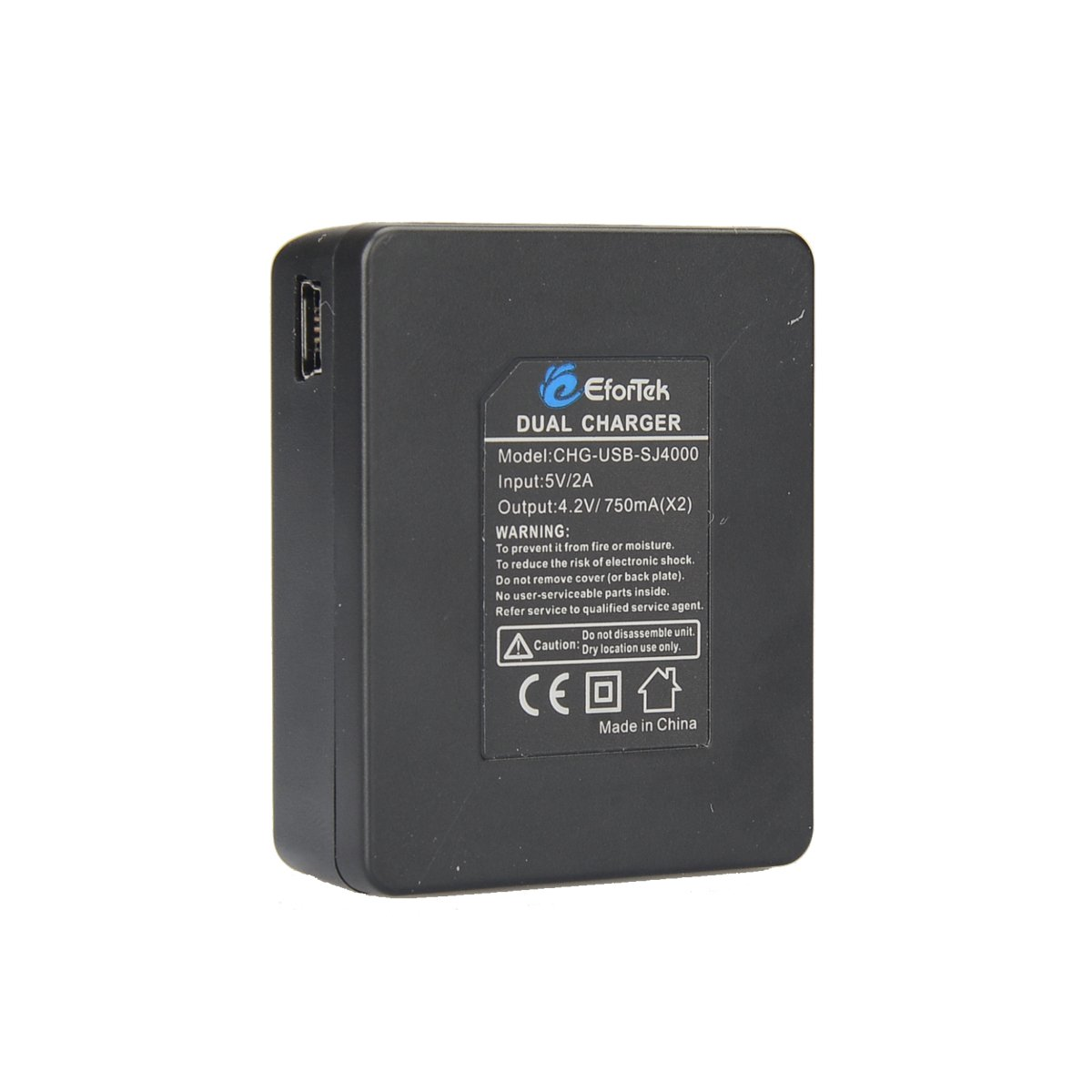 EforTek 1000mAh Li-ion Battery (2-Pack) and Dual USB Charger Kit for SJ4000,SJ5000,SJ6000 and Geekpro,DBPOWER,Gookit,SJCAM