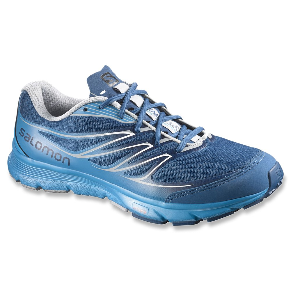 Salomon Sense Link Trailrunning schuhe Men Gentiane Methyl Blau Light Onix 2015 Laufsport Schuhe