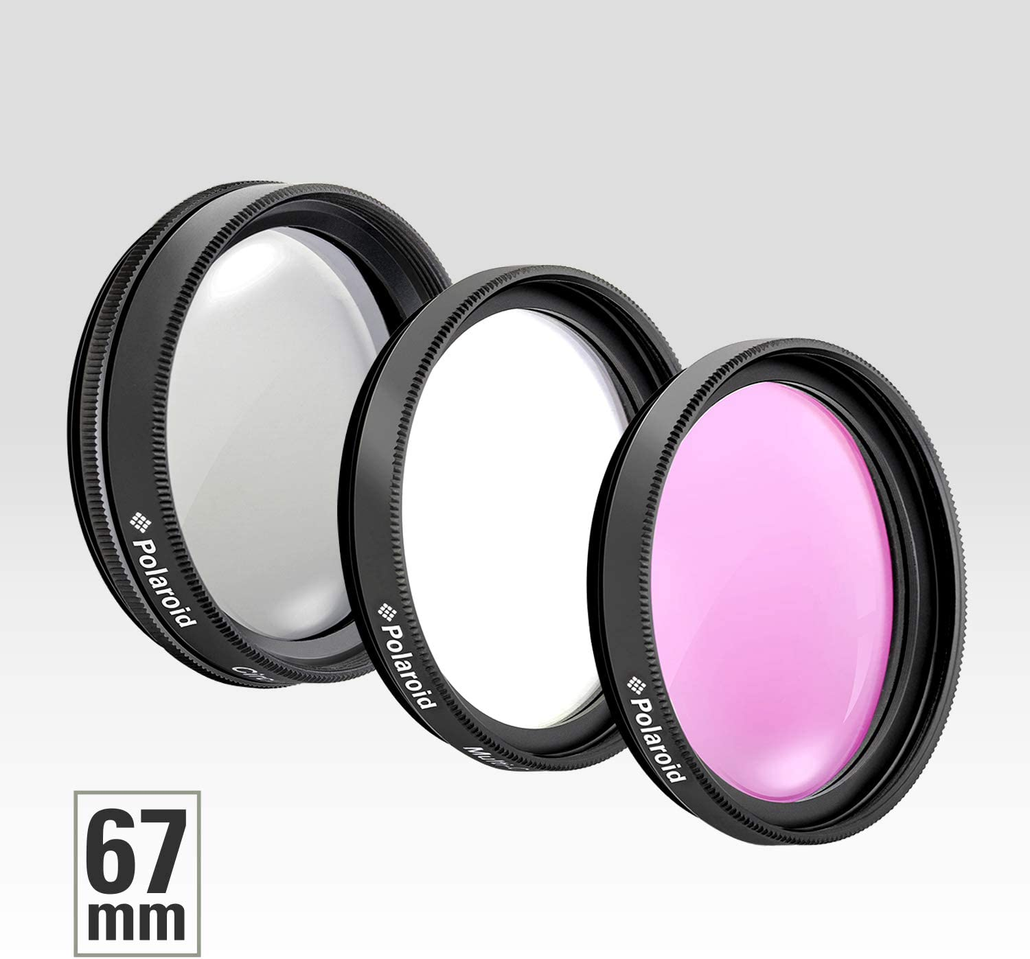 UV,CPL,FLD Compatible w// All Popular Camera Lens Models includes Nylon Carry Case Polaroid Optics 82mm 3-Piece Filter Kit Set