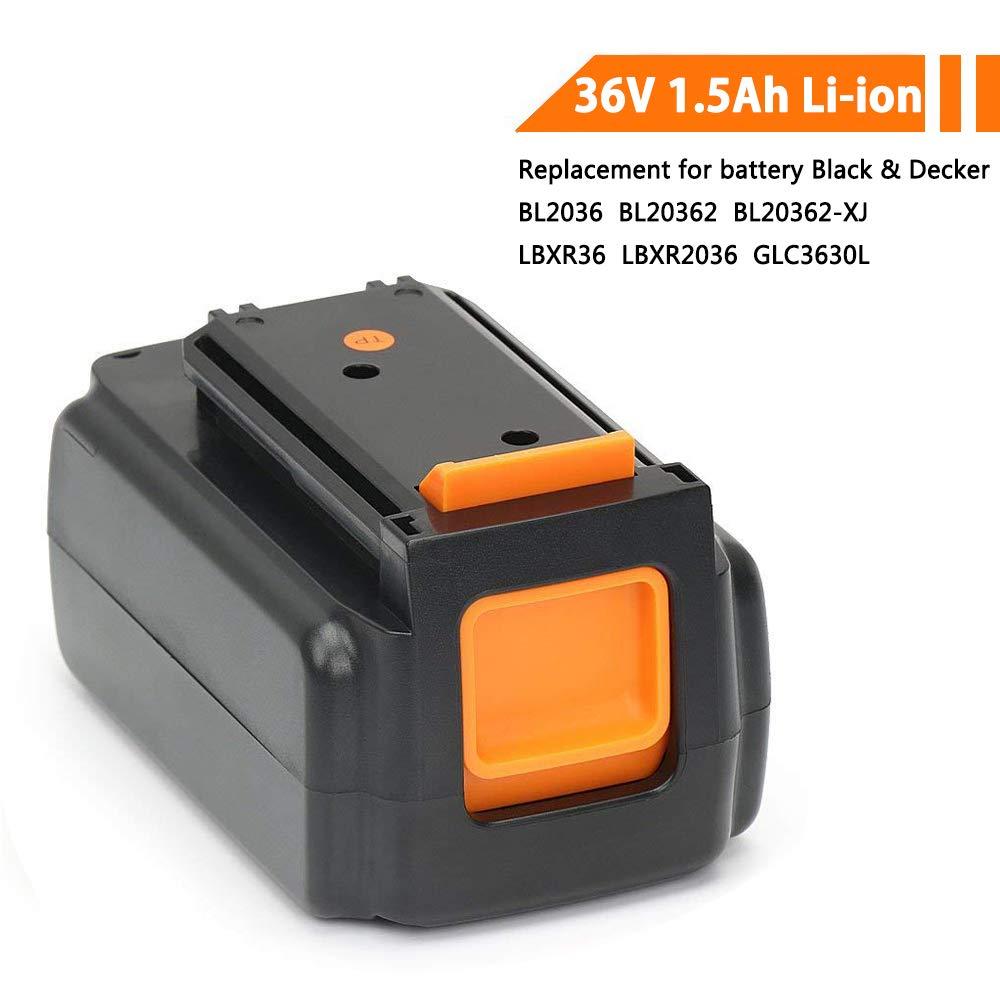 POWERGIANT 36V 1.5Ah Li-ion Batería para Black & Decker BL2036 BL2036-XJ BL1336 LBXR36 LBX2040 GLC3630L20 GWC3600L