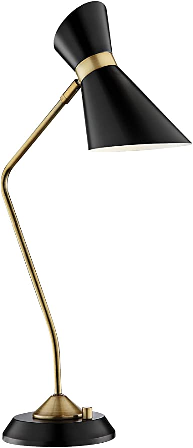 Lite Source Jared Black And Antique Brass Desk Lamp Amazon Com