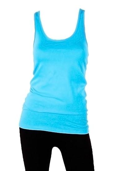 b856d3698bfaf0 Amazon.com  Sofra Women s 100% Cotton Racerback Tank Top  Clothing