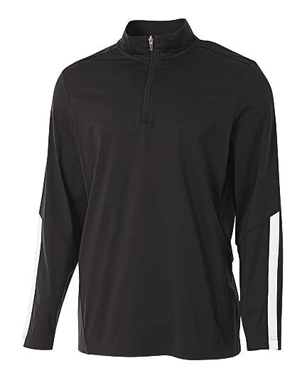 185d74a1e296 Black Adult 2XL Sports 1 4 Zip Moisture Wicking Cool   Comfortable Warm-up