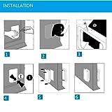 XuSha 4 Ways Locking Cat Flap Door Pet Door Kit for Cats Puppy Small Dogs Pet Safe High Performance