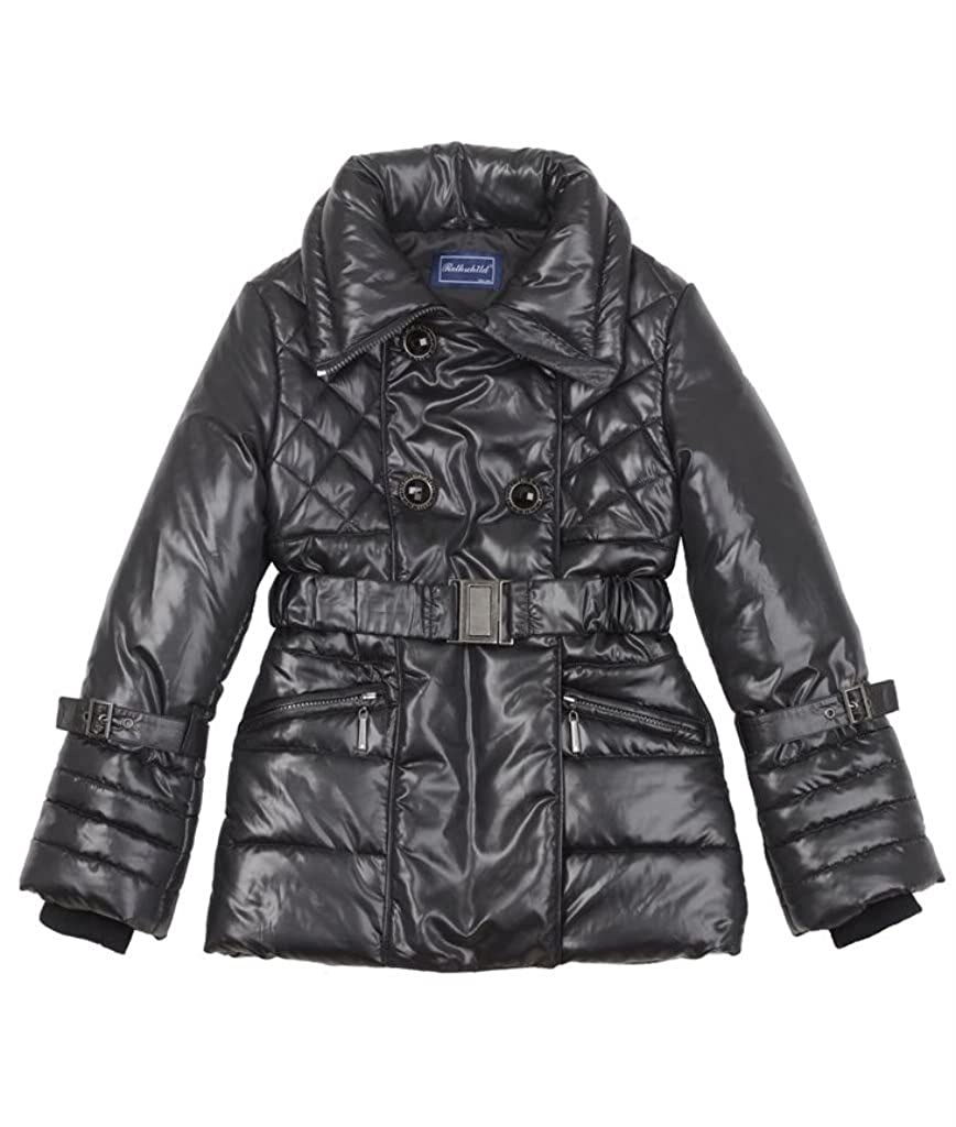 3 Colors Available Sizes 4-16 Rothschild Girls Quilted Paparazzi Shot Walking Coat