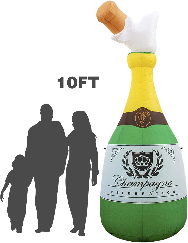 Amazon.com: Holidayana botella de champán inflable de 10 ...
