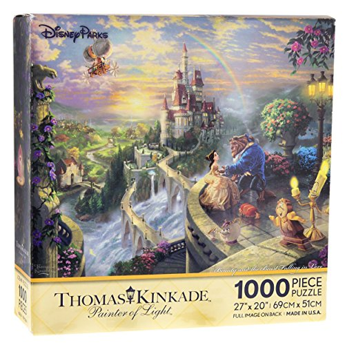 Disney Parks Thomas Kinkade Beauty and the Beast Falling in Love Puzzle 1000 ()