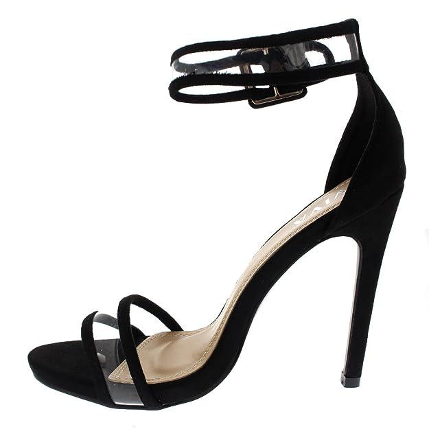08b161a7eb23 Viva Damen Offener Zeh Stilett Ausgeschnitten Kaum Da Mode Gurtpy Hoher  Absatzs  Amazon.de  Schuhe   Handtaschen