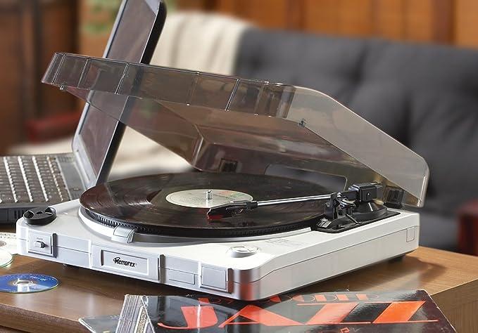Amazon.com: Memorex Tocadiscos USB convertir registros a CD ...
