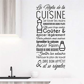 Uyrds Wandaufkleber mit Zitaten Les Règles De La Cuisine für ...