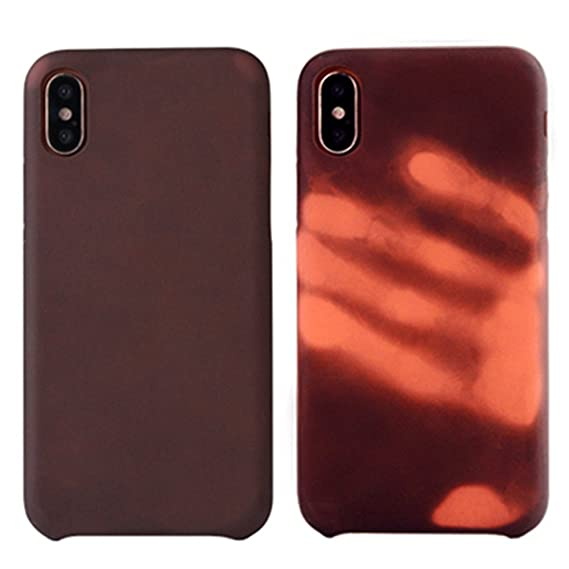 timeless design a6ff0 1b922 Creative Heat Sensitive Case iPhone X, fengus Magical Thermal Sensor Phone  Cover Soft PC Back Case for Apple iPhone x with Temperature Thermal ...