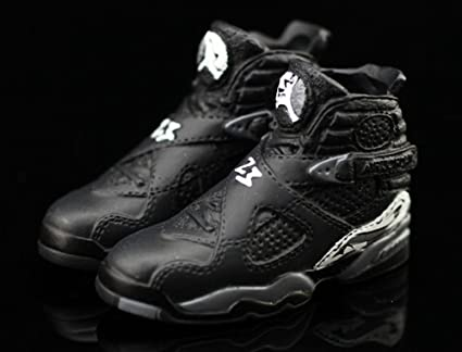 buy popular 11937 007be Air Jordan VIII 8 Retro Chrome Black Grey OG Sneakers Shoes 3D Keychain  Figure 1