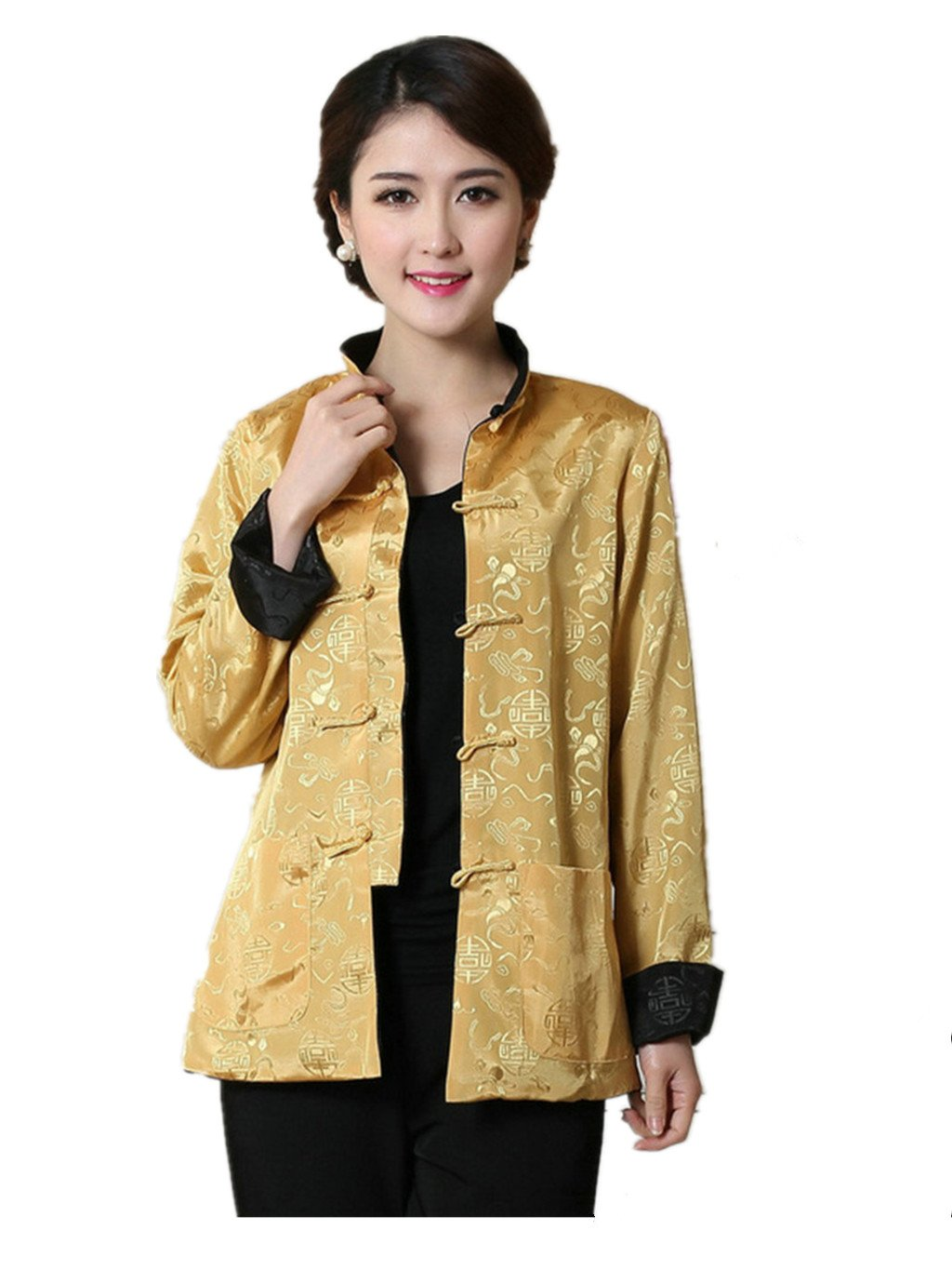 Womens Tang Suits Womens Leisurewear Double-sided Wear Chinese Jackets