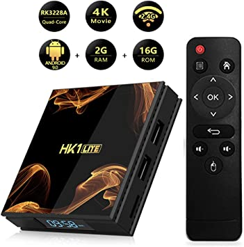 AAERP Android 9.0 TV Box,4kx2k 10 bit Android TV Box HDMI 2.0 Quad Core Smart TV Box Media Player Support WiFi HDMI for Home Entertainment: Amazon.es: Electrónica