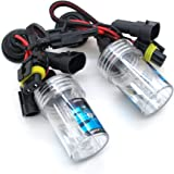 DELAM H1 6000K HID Xenon Replacement Bulbs Car Universal Headlight - Ultra White -1 Pair