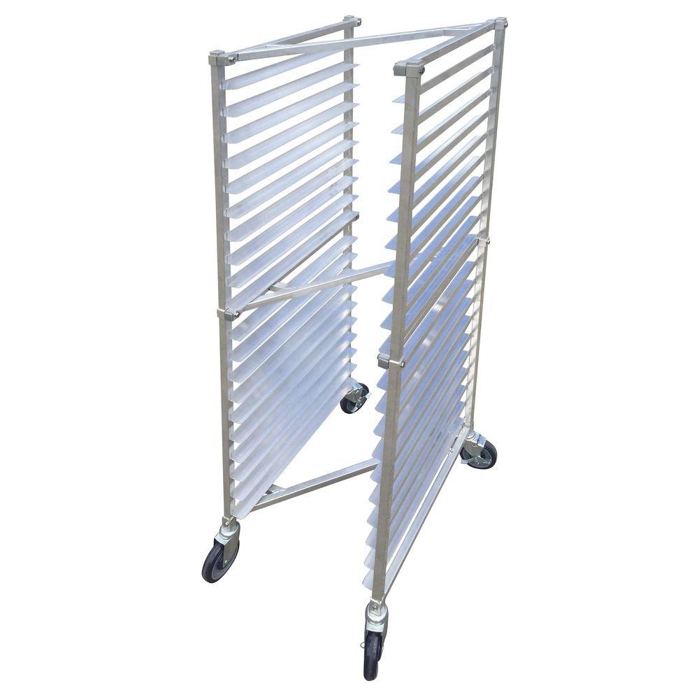HUBERT Aluminum 20 Pan Mobile Nesting Bun Pan Z-Rack 20 1/4''L x 26''W x 70 1/2''H