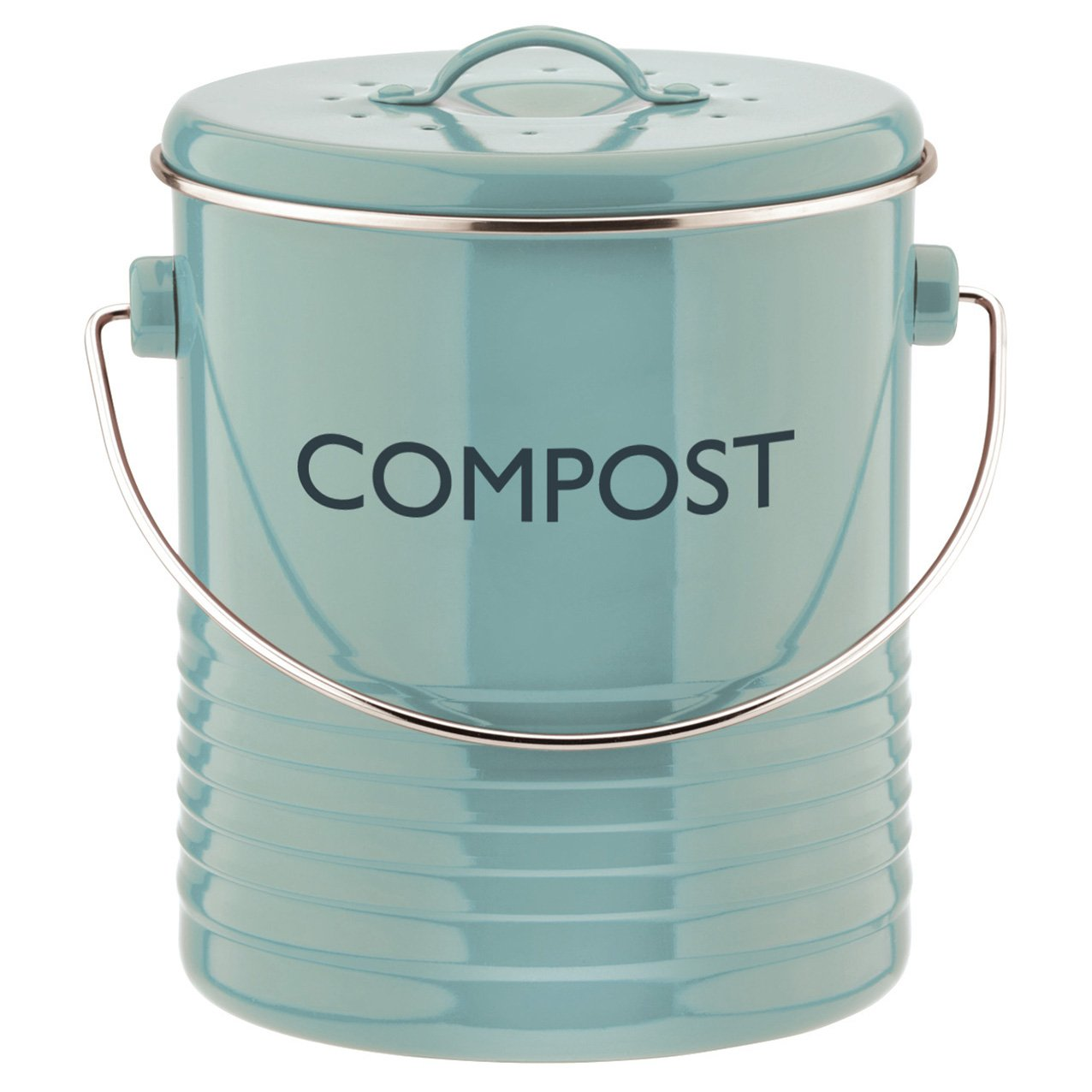Amazon.com: Typhoon Summer House Blue Compost Caddy, 2.6-Quart ...