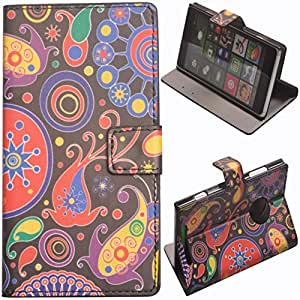 Einzige Slim Fit Leather Case Cover with Stand & Card Slots for Nokia Lumia 830 (Jellyfish) with Free Universal Screen-stylus