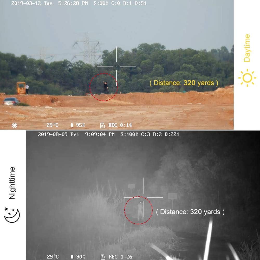T/élescope de vision nocturne couleur chatoyante Monoculaire Vision nocturne Port/ée num/érique T/él/ém/ètre Port/ée informatique 1080p Vid/éo Photo Wifi GPS pour observation nocturne de la faune Sauvetage