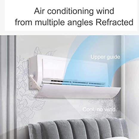 ROSOY telesc/ópico Deflector de Aire Acondicionado antiniebla Deflector de Aire Ajustable