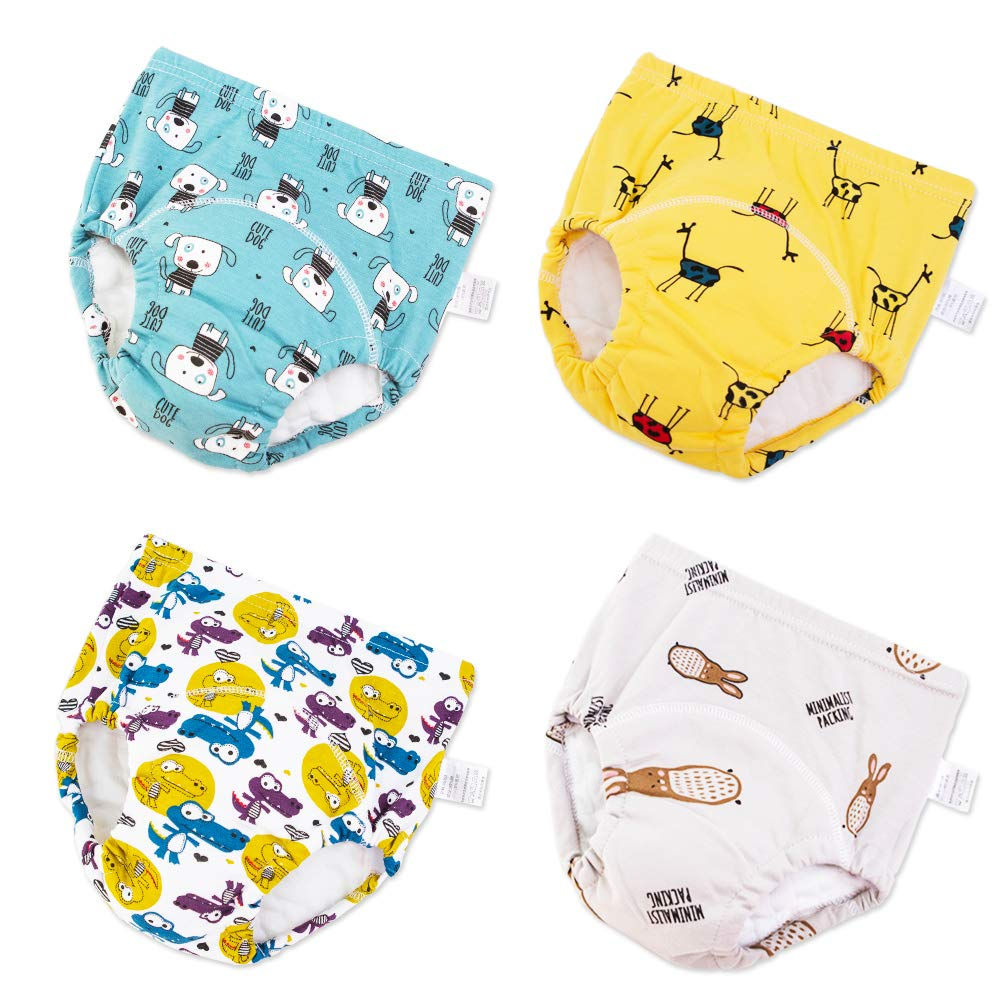YANN Baby Training Pants 6 Pack Toilet Pee Leak Proof Washable Potty Training Diaper Underwear for Toddler Boys and Girls